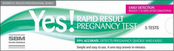 Yes! RAPID RESULT PREGNANCY TEST  5Tests