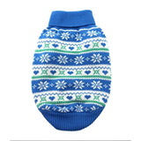 100% Pure Combed Cotton Dog Sweater BLUE SNOWFLAKE and HEARTS