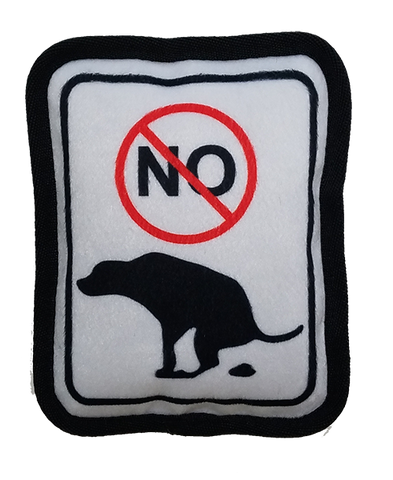 "Bark Appeal Plush Toy ""No Pooping"""