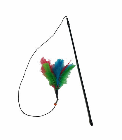 Bark Appeal Wand with One Feather for Cats