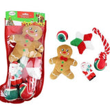 Midlee Designs Christmas Dog Stocking Gift Set