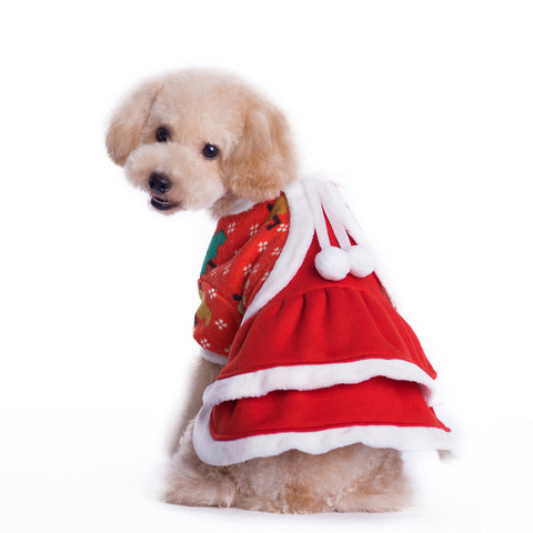 Small Pet Dog Puppy Warm Clothes Coat Doggy Apparel Christmas Jacket