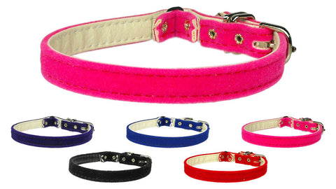 Velvet Plain Cat Collar