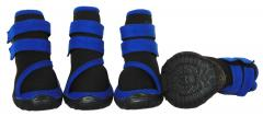 Performance-Coned Premium Stretch Supportive Pet Shoes - Set Of 4 - Black/Blue