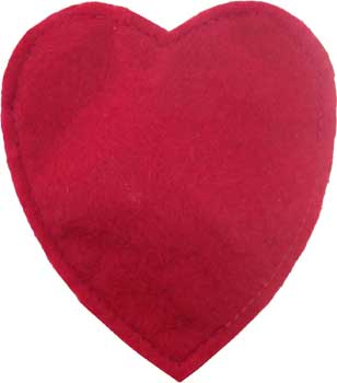 Imperial Cat Red Felt Hearts Catnip Toy - Set of 3