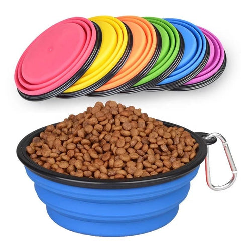 Best Seller Collapsible Silicone Travel Pet Bowl (Large)