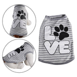 Love Dog Shirt Grey Stripe