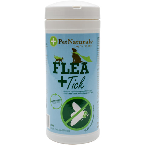 Flea + Tick Towelettes For Cats & Dogs 60/Pkg-