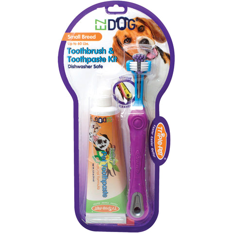 EZ Dog Toothbrush Kit-Small Breed