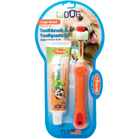 EZ Dog Pet Toothbrush Kit-Large Breed