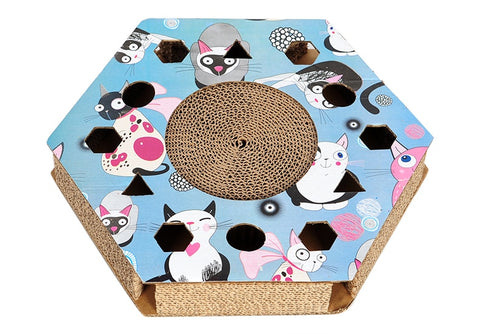 HOOPET Cat Scratch Board With Catnip Interactive Toy