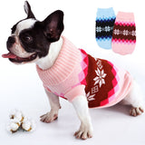 Christmas Argyle Turtleneck Knitted Sweater