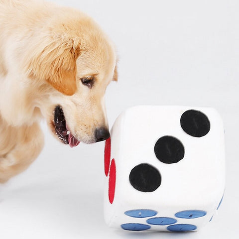 Dice Food Dispenser Dog Plush Toy