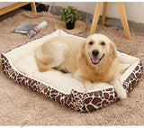 Striped Soft and Comfortable Pet Bed Made For Large Breeds