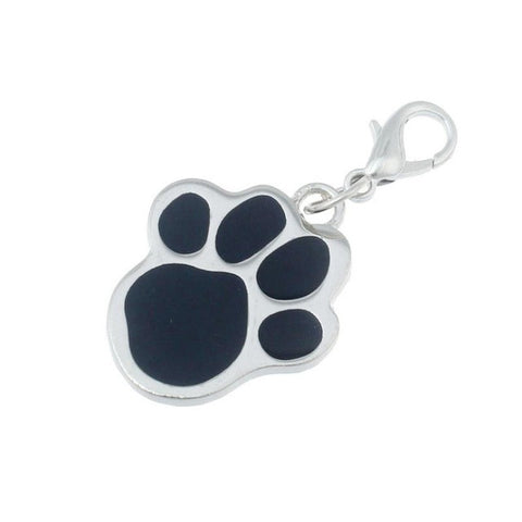 Popular Footprints Puppy Rhinestone Pendant
