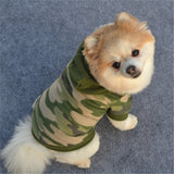 Winter Cameo Jumpsuit for small dogs