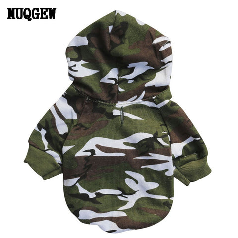 Puppy Dog Clothes Winter Camouflage Sweatshirt for Small Dogs