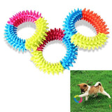 3 Color Embossment Spinose Ring Dog Toy