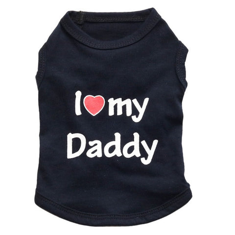 "Summer Dog T-Shirt ""I Love My Daddy"""