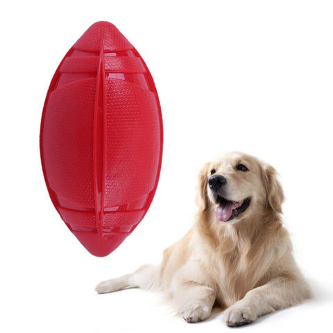 Natural Non-toxic Rubber Football for Playing Fetch