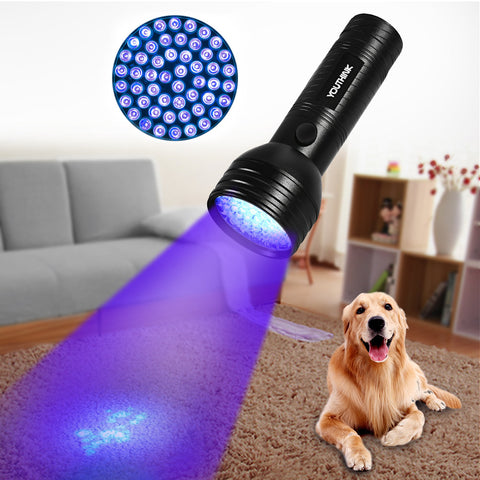 51 UV Pet Stain Urine Detector Hunter Black light Flashlight
