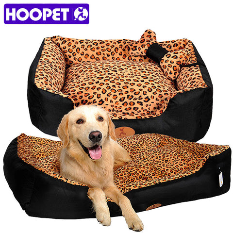Leopard Print Soft & Warm Pet Bed