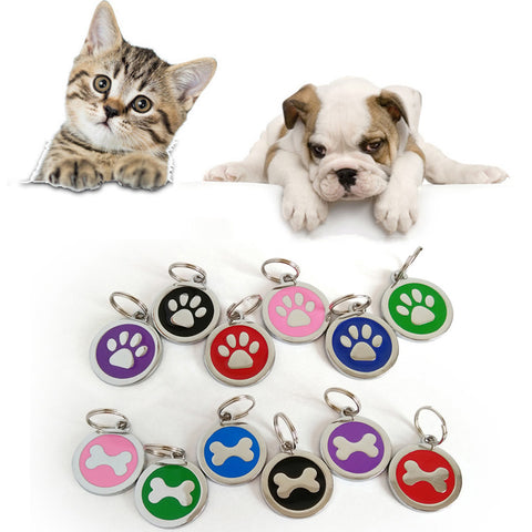 Anti-Lost Pet Dog Cat Name Address Label ID Tag