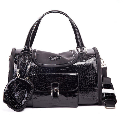 Crocodile Leather Transport Carrying Bag for Pet Dogs & Cats