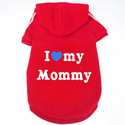 I Love Mommy & Daddy Fleece Hoodie T-Shirt