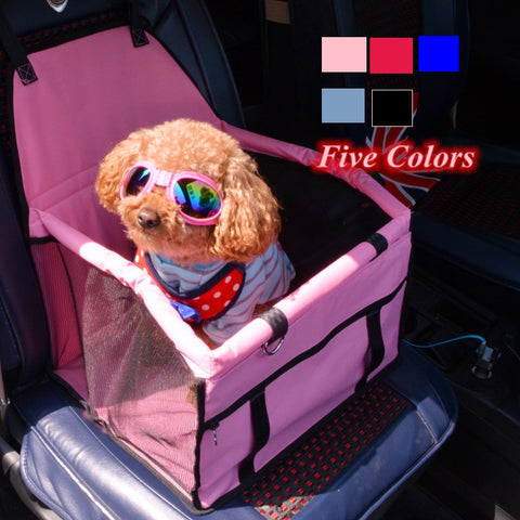 Summer Breathable Puppy Pet Mesh Foldable Car Seat For Transportation Travel