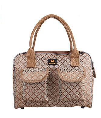 Classic Pet Carrier Bags Luxury Oxford for Small Animals