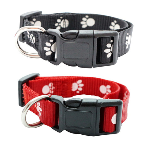 Paw Print Adjustable 4 in1 Pet Anti-Flea, Tick and Mosquito Collar