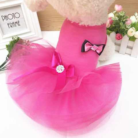Lovely Rose Doggy Princess Party Tutu Skirt. Suitable for Small Dog Breeds.