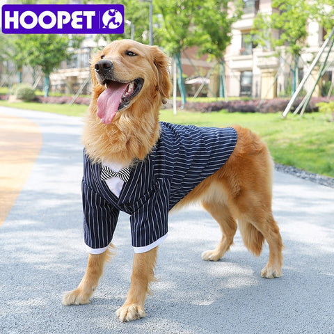 Pin Striped Tuxedo Shirt for Large Dogs