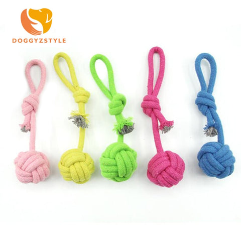 Doggie Chew Cotton Rope Knot Ball Indestructible