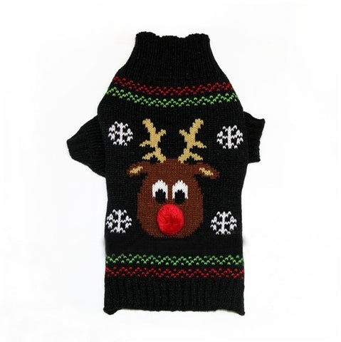 Christmas Winter Dog and/or Puppy Sweater: Xmas Reindeer Dog