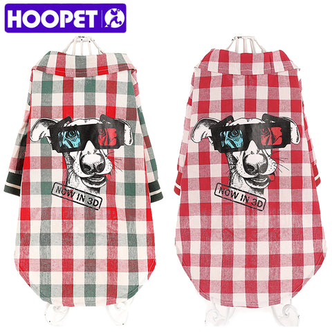 Hoopet All New  Plaid Dog T-shirt for small dogs