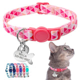 Quick Release Cat Collar w/ Personalized Engraving