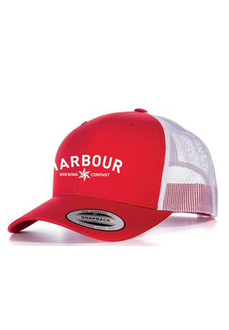 Red/White Snapback trucker cap