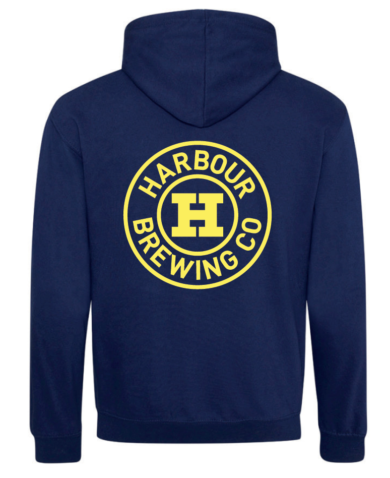 Navy Blue & Gold Hoody