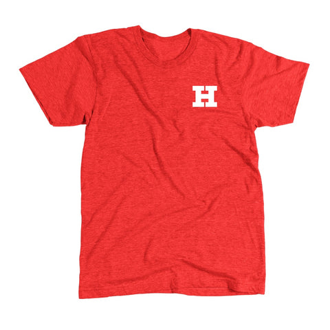 Tri-blend Tee - Red - White Roundle logo