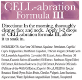 Cell-Abration Formula III