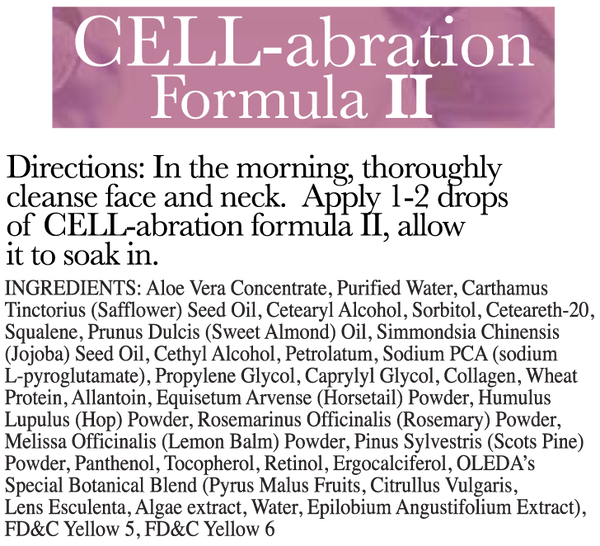 Cell-Abration Formula II