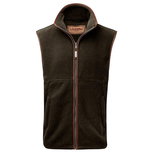 Schoffel Men's Oakham Fleece Gilet Dark Olive - RedMillsStore.ie