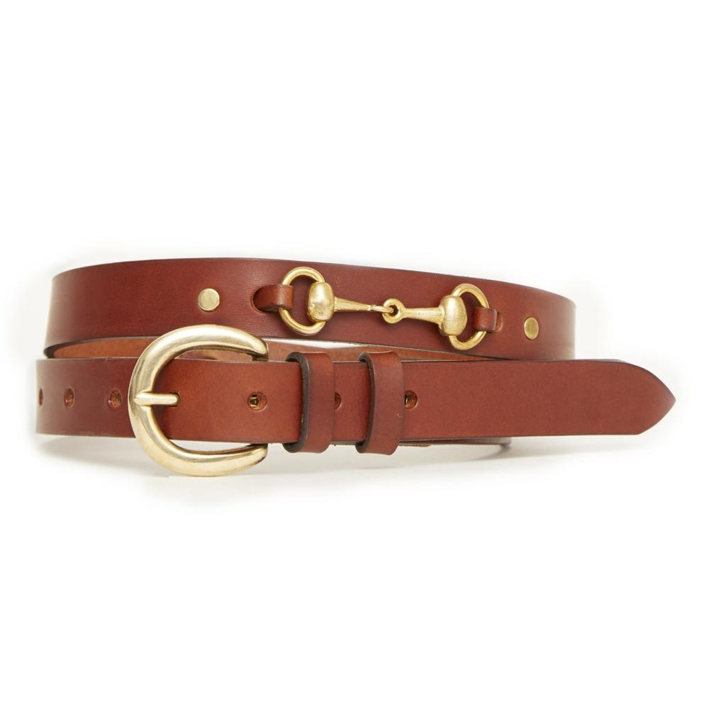HIcks & Hide Ascot Bit Belt Cognac Leather - RedMillsStore.ie