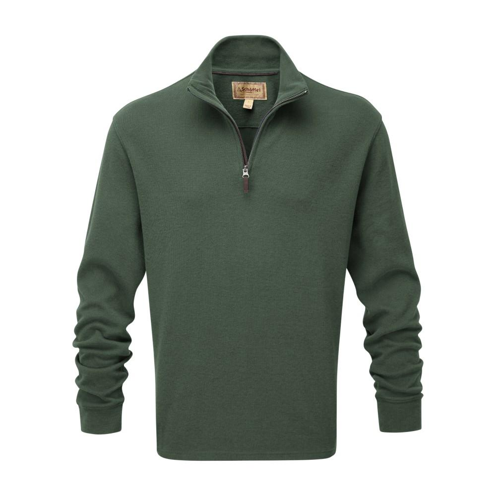 Schoffel Men's Cotton French Rib 1/4 Zip Sage - RedMillsStore.ie