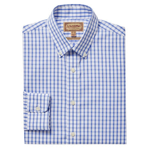 Schoffel Men's Harlyn Tailored Fit Shirt Blue/White - RedMillsStore.ie