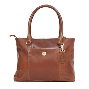 Hicks & Hide Hidcote Cartridge Handbag Cognac Leather - RedMillsStore.ie