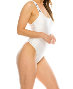 Brand Band One-Piece Swimsuit