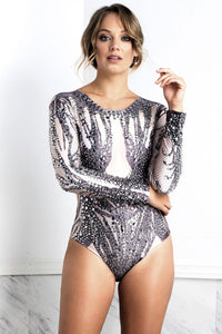 J-Lo Body Crystals Bodysuit. BACCIO Miami Fashion Design. Hand made dresses Black and white Bodysuit. Latest Miami fashion and couture bodysuits for sale. Bodysuits. Find bodysuits near miami.
